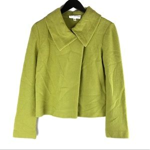 St John Collection Avocado Lime Green Swing Jacket